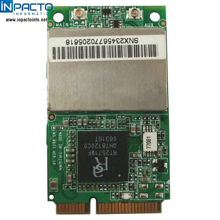 PLACA WIRELESS NOTEBOOK RALINK RT2571WF - In-Pacto Informática
