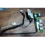 PLACA USB/AUDIO/MODEM NOTEBOOK POSITIVO V45 - In-Pacto Informática