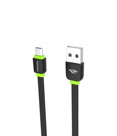 CABO MICRO USB 2.0 AM x USB 1M PRETO CB-100BK C3TECH