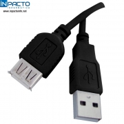 CABO USB A MACHO X A FEMEA 2.0 PLUSCABLE 1,8M - In-Pacto Informática