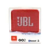 CAIXA SOM JBL GO2 BLUETOOTH VERMELHO - In-Pacto Informática