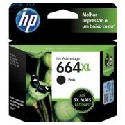 CARTUCHO HP 664XL (F6V31AB) PRETO ORIGINAL - In-Pacto Informática