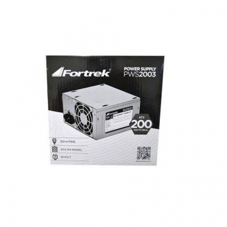 FONTE ATX 200W REAIS SATA PWS-2003 S/CABO BOX 62849 FORTREK