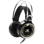 HEADSET GAMER STEREO C/MICROFONE BLACK KITE PRETO/LED RGB PH-G310BK C3 TECH - In-Pacto Informática