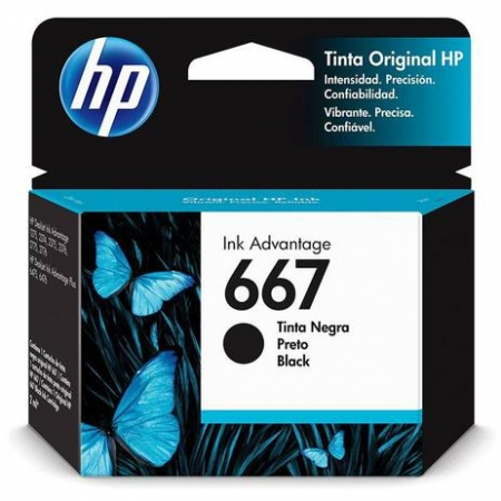 HP 667 CARTUCHO DE TINTA PRETO (2,0 ml)