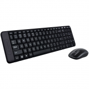 KIT LOGITECH MK220 WIRELESS TECLADO E MOUSE PRETO