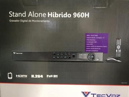 TECVOZ THK08- DVR HIBRIDO E NVR IP ATÉ 16C