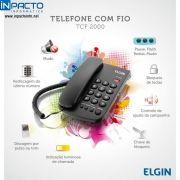 TELEFONE ELGIN COM FIO 2000 PRETO