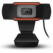 WEBCAM HD 720P COM MICROFONE PRETO/LARANJA
