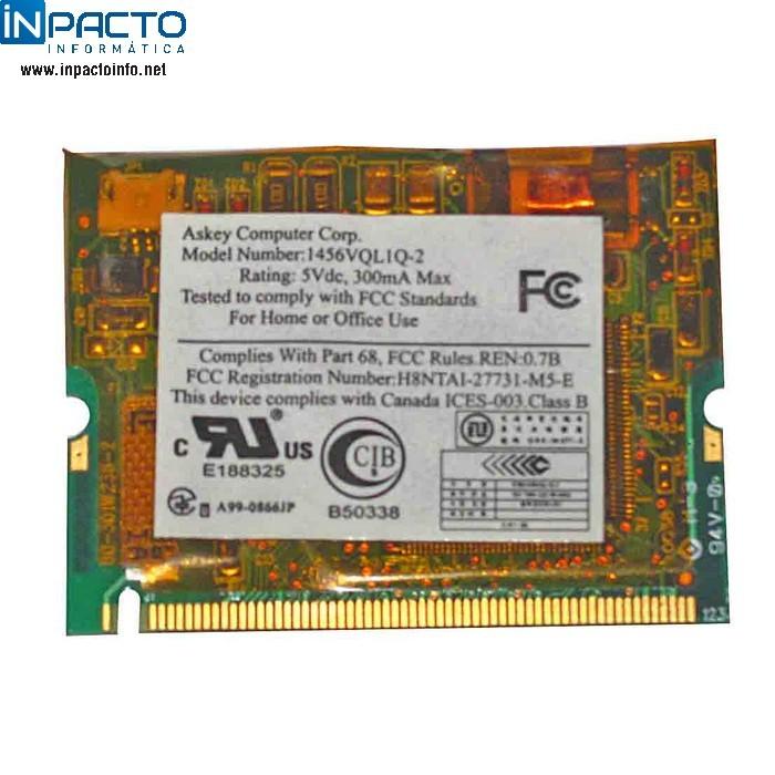 MINI MODEM INT 56K P/ HP COMPAQ PRESARIO 12XX - In-Pacto Informática