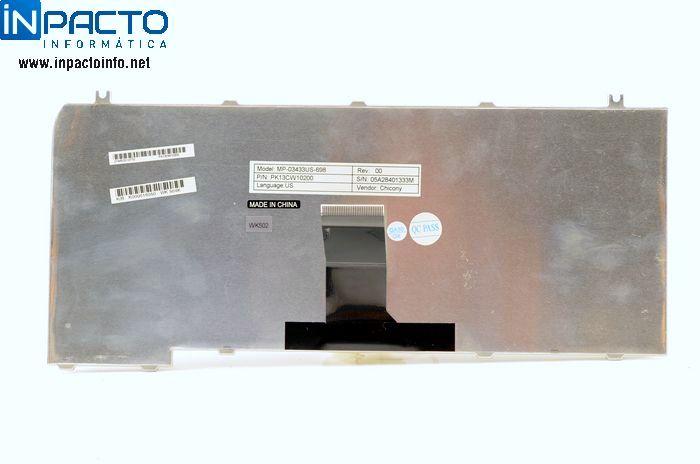 TECLADO NOTEBOOK TOSHIBA  M35X PRETO (USADO) - In-Pacto Informática