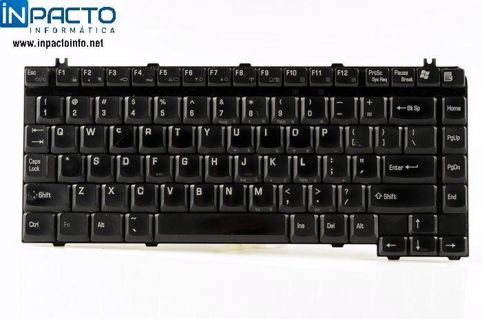 TECLADO NOTEBOOK TOSHIBA  M35X PRETO  - In-Pacto Informática