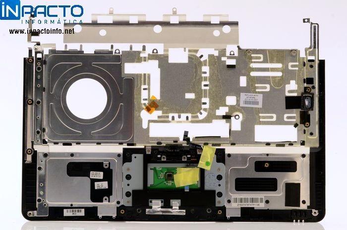 CARCAÇA BASE SUPERIOR COM TOUCHPAD HP DV6000  - In-Pacto Informática