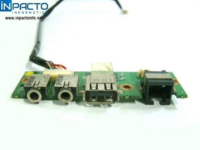 PLACA  AUDIO E USB POSITIVO - In-Pacto Informática