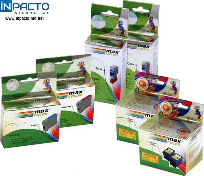CARTUCHO MAXCOLOR COMP EPSON TO821 PRETO  - In-Pacto Informática