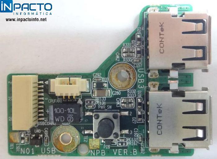 PLACA 2 USBS COM COOLER NB PHILCO PNH 1004  - In-Pacto Informática