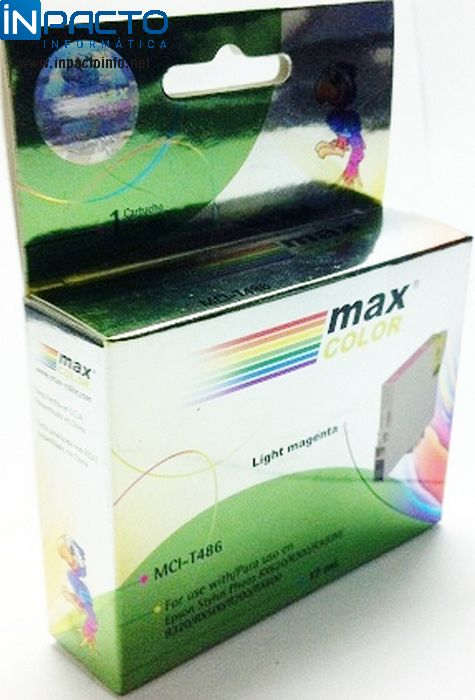 CARTUCHO MAXCOLOR COMP EPSON TO826 LIGHT MAG - In-Pacto Informática