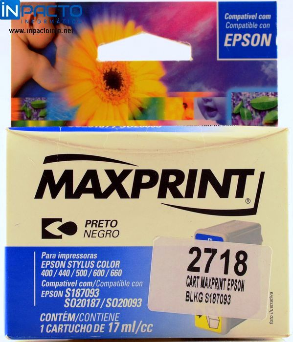 CARTUCHO MAXPRINT COMP EPSON S187093 (TO50) - In-Pacto Informática