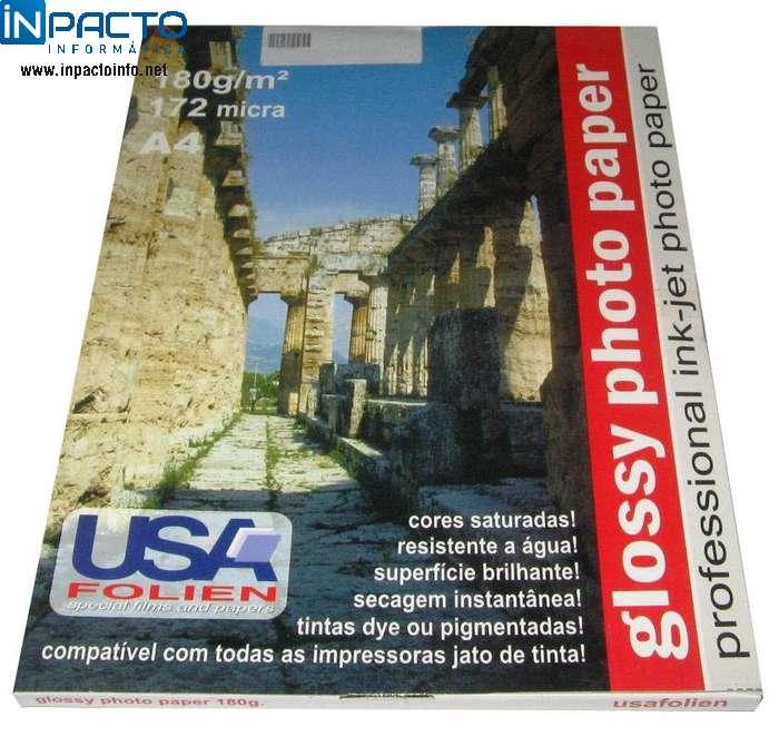 PAPEL A4 FOTOGRAFICO GLOSSY 180G  (UN) - In-Pacto Informática