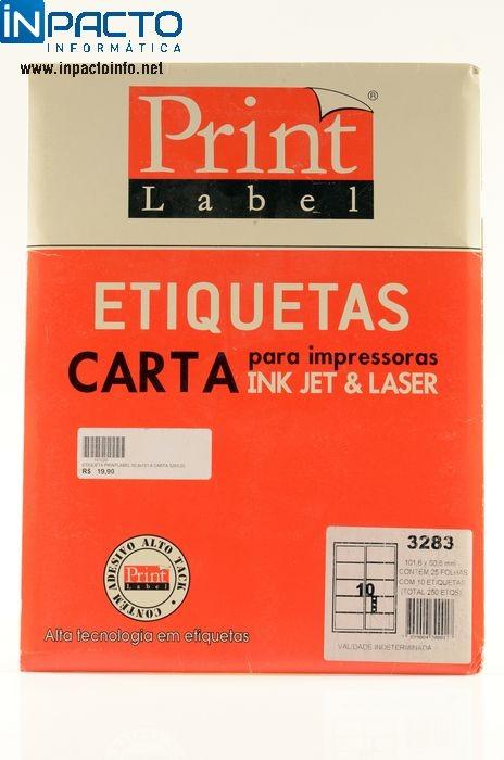 ETIQUETA PRINTLABEL 50,8x101,6 CARTA 3283-25 - In-Pacto Informática
