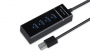 HUB USB 3.0 4 PORTAS A-HUB14 SATELLITE PRETO - In-Pacto Informática