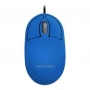 MOUSE OPTICO CLASSIC BOX AZUL USB MO305 MULTILASER - In-Pacto Informática