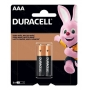 PILHA ALCALINA AAA 1,5V BLISTER C/2 MN2400B2 DURACELL - In-Pacto Informática