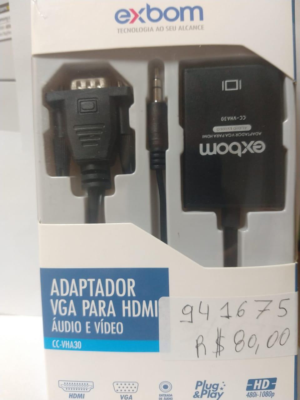 ADAPTADOR EXBOM VGA P/ HDMI CC-VHA30 - In-Pacto Informática