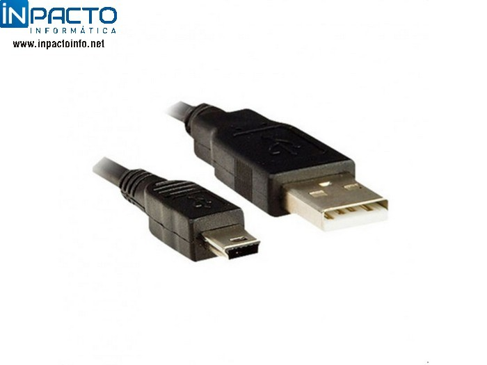 CABO USB AM X MINI USB PLUSCABLE 1,8M PC-1803 - In-Pacto Informática