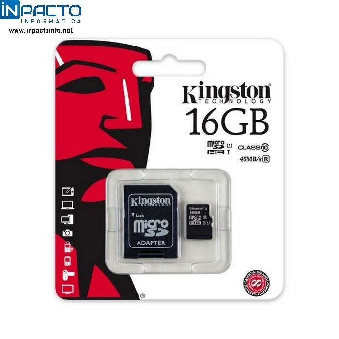 CARTAO DE MEMORIA KINGSTON 32GB SDC10 - In-Pacto Informática