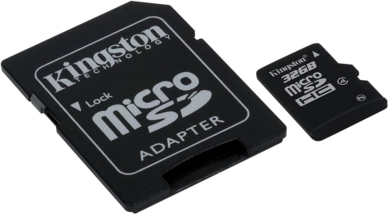 CARTÃO MEMORIA KINGSTON SDC4 32GB MICROSD/SD
