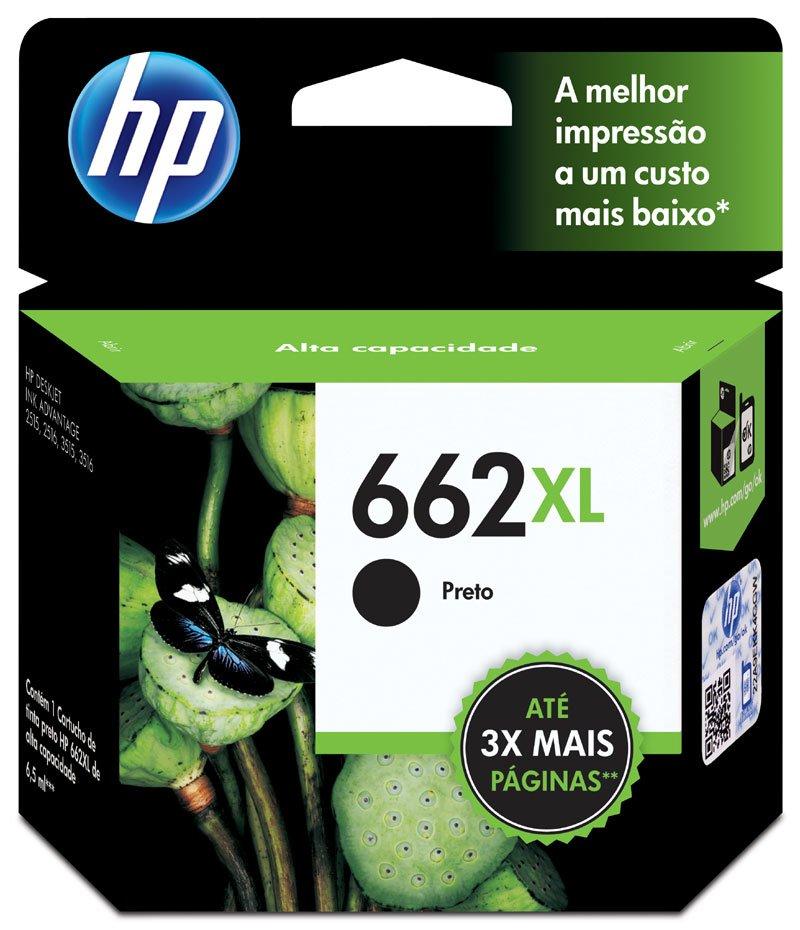 CARTUCHO HP 662XL (CZ105AB) PRETO ORIGINAL - In-Pacto Informática