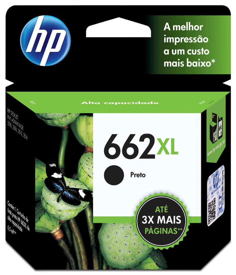 CARTUCHO HP 662XL (CZ105AB) PRETO ORIGINAL