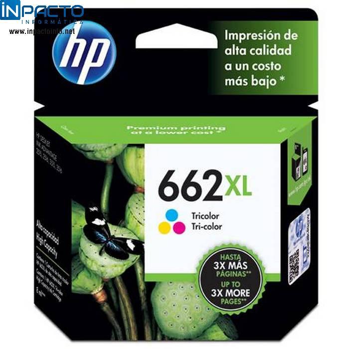 CARTUCHO HP 662XL (CZ106AB) COLOR ORIGINAL  - In-Pacto Informática