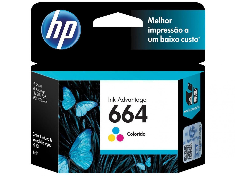 CARTUCHO HP 664 COLOR ORIGINAL - In-Pacto Informática
