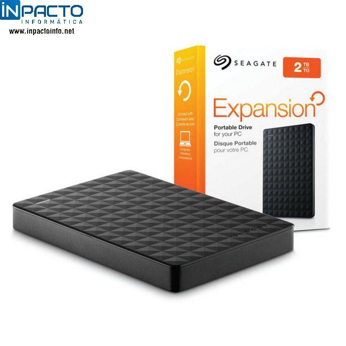 HD EXTERNO SEAGATE 2TB STEA2000400 USB 3.0 - In-Pacto Informática