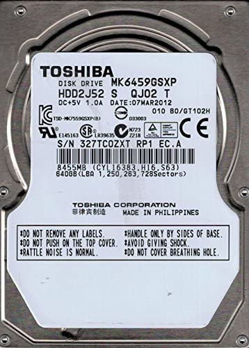 HD NOTEBOOK SATA 640GB TOSHIBA MK6459GSXP - In-Pacto Informática