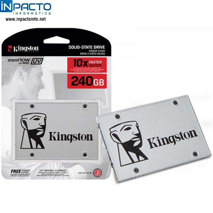 HD SATA3 KINGSTON A400 SSD 240GB SA400S37 - In-Pacto Informática