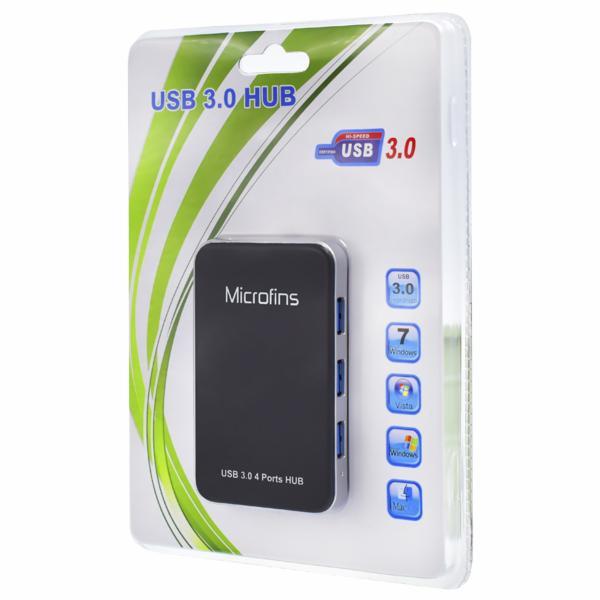 HUB USB 3.0 4 PORTAS MICROFINS