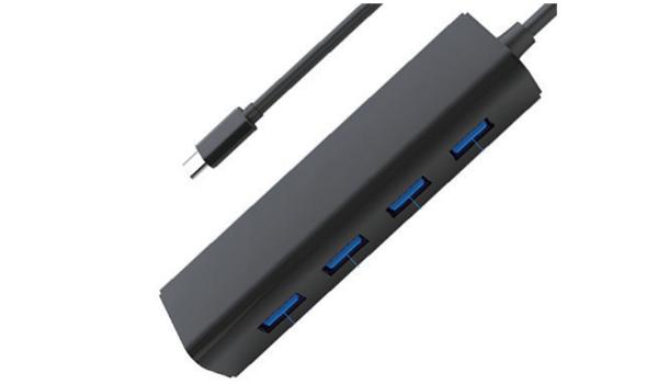 HUB USB-C 4 PORTAS USB 3.0 A-HUB15 SATELLITE PRETO