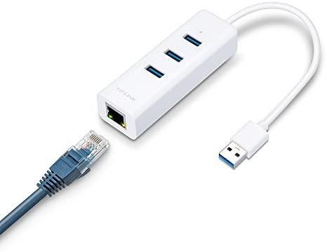 HUB USB TP-LINK UE330 COM 3 PORTAS 3.0 E ETHERNET GIGABIT