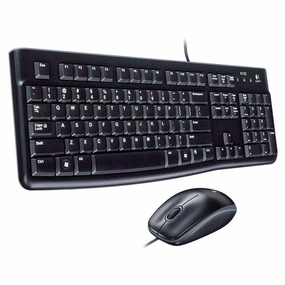 KIT LOGITECH TECLADO SLIM E MOUSE MK120 PRETO USB - In-Pacto Informática