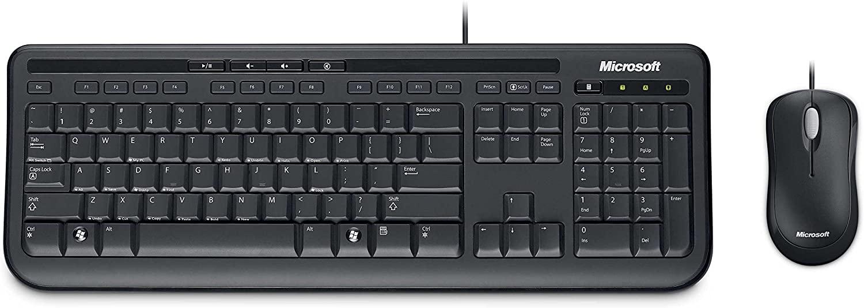 KIT TECLADO/MOUSE C/FIO WIRED 600 DESKTOP PTO USB APB-00005 MICROSOFT