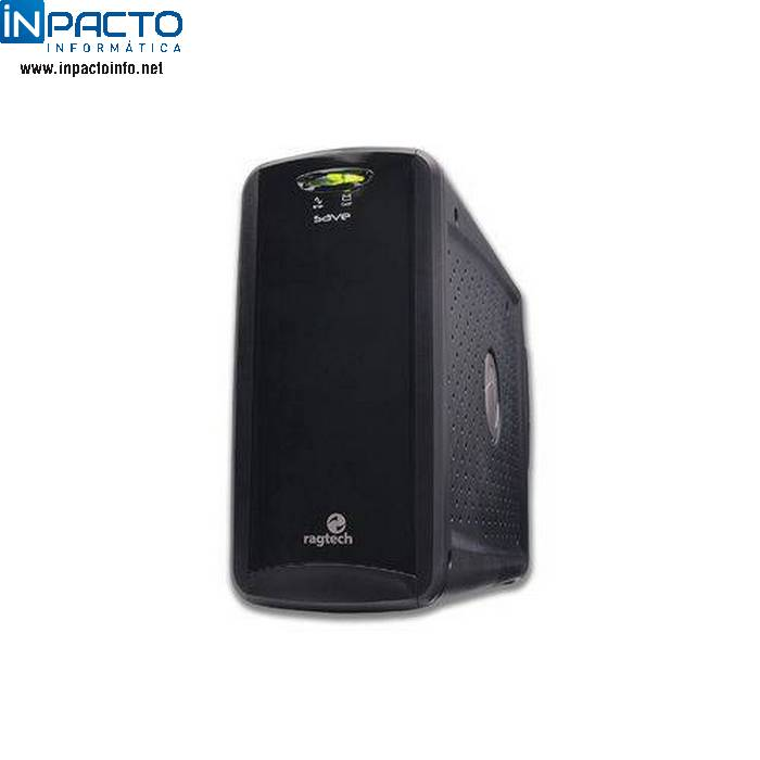 NOBREAK RAGTECH SAVE HOME BIV PRETO 600VA - In-Pacto Informática