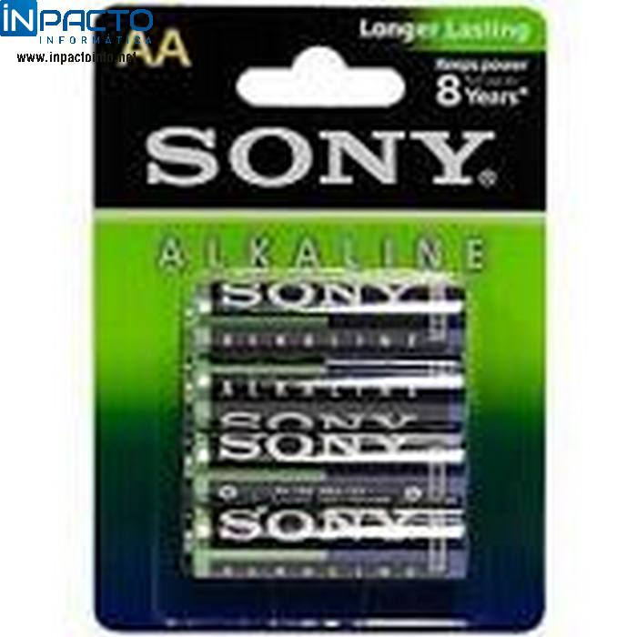 PACK SONY C/ 4 PILHAS AA 1.5V - In-Pacto Informática