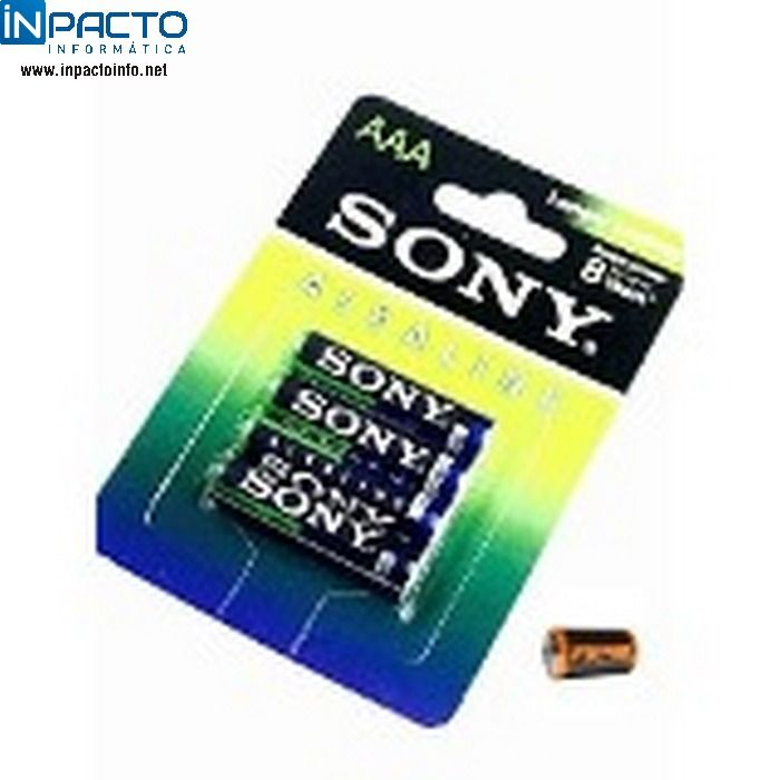 PACK SONY C/ 4 PILHAS AAA 1.5V - In-Pacto Informática