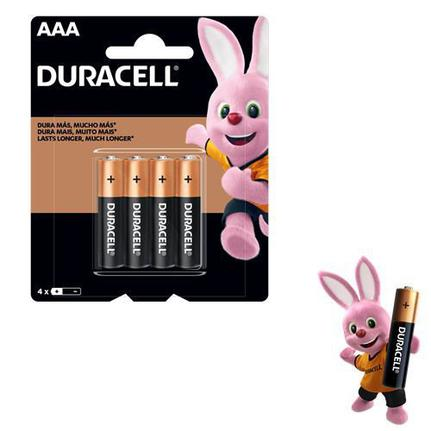 PILHA ALCALINA AAA 1,5V BLISTER C/4 MN2400B4 DURACELL  - In-Pacto Informática
