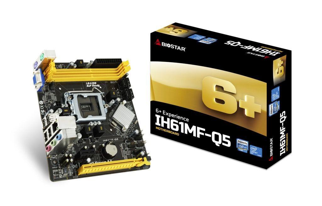 PLACA MAE INTEL 1155P BIOSTAR IH61MF-Q5 DDR3 - In-Pacto Informática