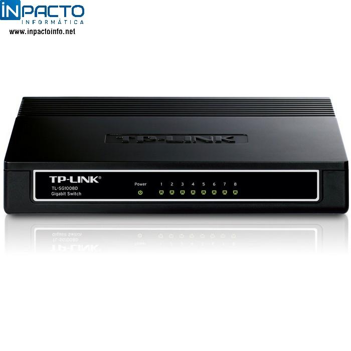 SWITCH TP-LINK GIGABIT 8P TL-SG1008D - In-Pacto Informática