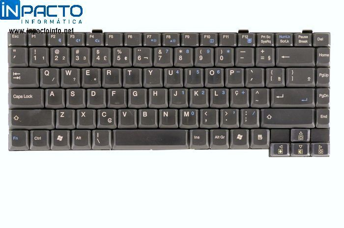 TECLADO NOTEBOOK ECS G733 PRETO  - In-Pacto Informática